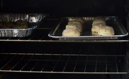 Kaasachtige Koekjes in een Oven Royalty-vrije Stock Fotografie