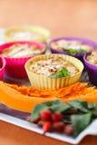 Kaasmuffins met pompoen Stock Fotografie