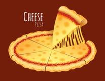 Kaaspizza royalty-vrije illustratie