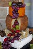 Kaasschotel met vers en verglaasd fruit royalty-vrije stock afbeelding