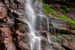 Kaaterskill faller Catskills berg av New York fotografering för bildbyråer