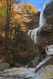 Kaaterskill Falls after a Heavy Autumn Rain Royalty Free Stock Images