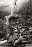 Kaaterskill Falls Lost in the Fog Royalty Free Stock Photography