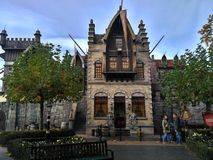 Kaatsheuvel/Nederland - 03 November 2016: Fairytalekasteel in Themapark Efteling royalty-vrije stock foto
