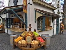 Kaatsheuvel / The Netherlands - March 29 2018: A cafe in Theme Park Efteling look like a fruits shop stock image