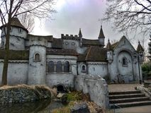 Kaatsheuvel / The Netherlands - March 29 2018: Fairy tale castle in Theme Park Efteling. Kaatsheuvel / The Netherlands - March 29 2018: Fairytale castle in Theme royalty free stock images
