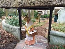 Kaatsheuvel / The Netherlands - March 29 2018: Mother goat from fairytale The Wolf and the Seven Kids in Theme Park Efteling stock photo