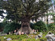 Kaatsheuvel / The Netherlands - March 29 2018: Speaking faitytale tree in Theme Park Efteling. Spring royalty free stock photo