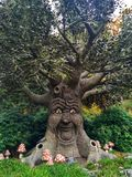 Kaatsheuvel / The Netherlands - November 03 2016: Speaking fairytale tree in Theme Park Efteling royalty free stock photography