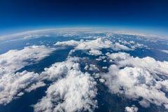 Kabłąkowatość planety ziemia Antena strzał niebo, chmury niebieski fotografia royalty free