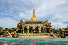 Kaba aye Pagoda famous place in Yangon, Myanmar with clear blue Royalty Free Stock Image