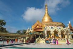 Kaba Aye Pagoda, Yangon, Myanmar fotografia de stock