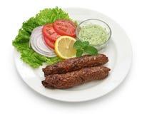 Kabab del seekh del montone immagine stock