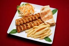 鸡kabab shish 库存图片