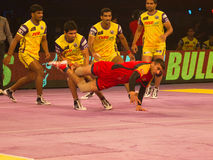 Kabaddi action Royalty Free Stock Photos