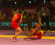 Kabaddi action Stock Image