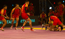 Kabaddi defence Anti Stock Images