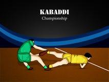 Kabaddi-Hintergrund Stockfotografie