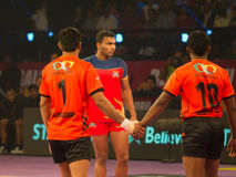 Kabaddi Raider and Defenders Royalty Free Stock Image