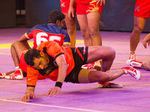 Kabaddi Raider and Defenders Royalty Free Stock Photos