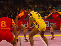 Kabaddi sport action Stock Image
