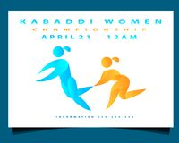Kabaddi women royalty free illustration