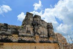 Kabah,尤加坦玛雅废墟在Puuc路线的 免版税库存图片