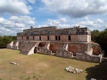 Kabah Мексика, археологические раскопки Стоковая Фотография RF