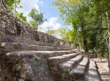 墨西哥。 Kabah玛雅废墟在墨西哥 图库摄影