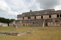 Kabah Mayan site in Mexico. Kabah is a Maya archaeological site in the Puuc region of western Yucatan, south of Mérida Stock Photos