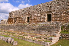Kabah in Yucatan, Mexico. Mayan Palace facade in the archaeological site of Kabah, part of the Puuc Route. Mexican state of yucatan Royalty Free Stock Image
