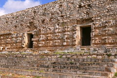Kabah in Yucatan, Mexico. Mayan Palace facade in the archaeological site of Kabah, part of the Puuc Route. Mexican state of yucatan Stock Images