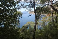Kabak dalstrand, Fethiye Arkivbilder