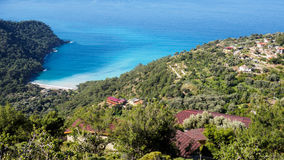 Kabak town and Kabak beach. Royalty Free Stock Images