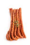 Kabanos - Polish long thin dry sausage made of pork Royalty Free Stock Photography