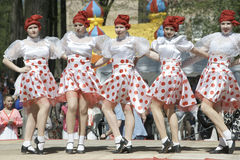 Kabaret dancing groupe Royalty Free Stock Photo