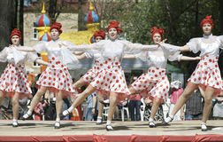 Kabaret dancing groupe stock image
