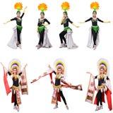 Kabaretowy tancerz odizolowywający Zdjęcie Stock