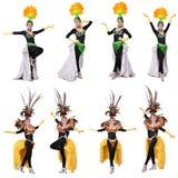 Kabaretowy tancerz odizolowywający Zdjęcia Stock