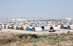 Kabarto IDP camp. KABARTO 1, IRAQ – AUGUST  12, 2015: Kabarto 1 camp for internally displaced persons (IDP) in North Iraq, Kurdistan Regional Government, Dohuk Royalty Free Stock Photos