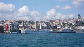 Kabatas istanbul. Passanger ships in kabatas Royalty Free Stock Images