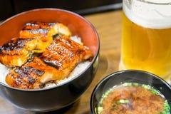 Kabayaki set eel on rice Stock Images
