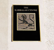 The kabbalah center trademark Stock Image