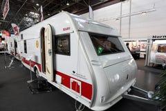 Kabe Safir TDL husvagn som används som permanent hem Royaltyfria Bilder