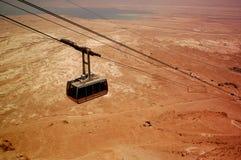 Kabel aan Masada Stock Afbeeldingen