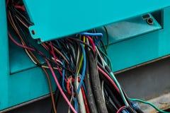 Kabel, ausgefranst, unordentlich, glatt, Draht stockfoto