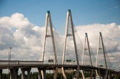 Kabel-bliven bro i St Petersburg Royaltyfria Foton