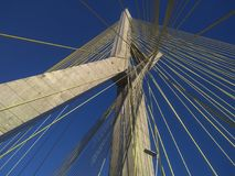 Kabel-bliven bro i världen royaltyfria foton