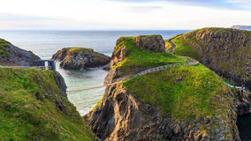 Kabel carrick-a-Rede in Noord-Ierland royalty-vrije stock afbeelding