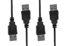 kabel cords usb Arkivbild